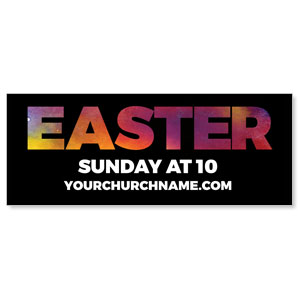 Easter Black and Bright Banners
