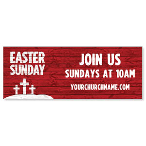 Easter Wood Red Banners