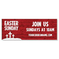 Easter Wood Red Banner