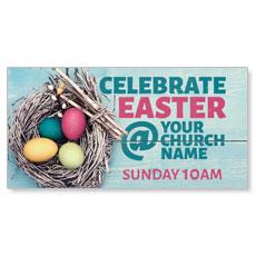 Egg Nest Easter Banner