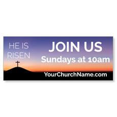 He Is Risen Sunrise Banner