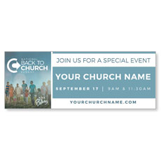 Back to Church Sunday: A Place to Belong Banner