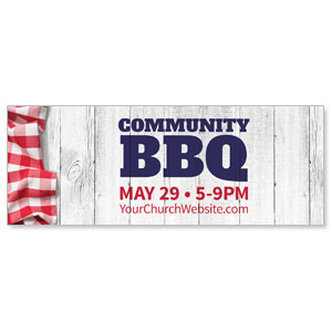 Community BBQ Banners