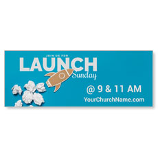 Paper Rocket Launch Banner