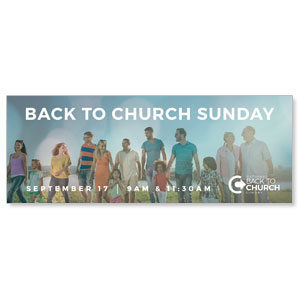 Back to Church Sunday People - 3x8 ImpactBanners