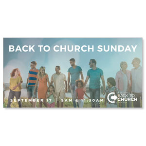 Back to Church Sunday People - 4x8 ImpactBanners