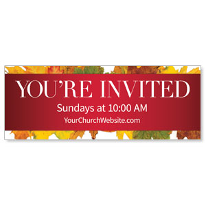Leaves Youre Invited Banners