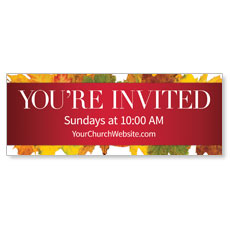 Leaves Youre Invited Banner