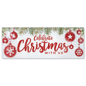 Celebrate Christmas Red Banners