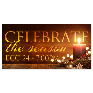 Celebrate The Season Candle - 4x8 ImpactBanners