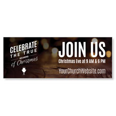 Celebrate True Meaning Banner