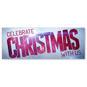 Christmas At Red Glitter Banners