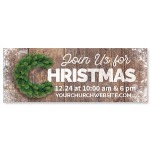 Christmas C Wreath Banners