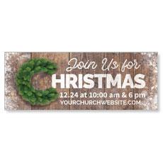 Christmas C Wreath Banner
