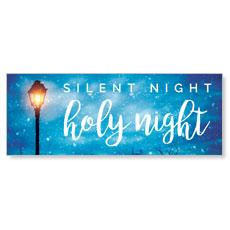 Holy Night Lamp Post Banner