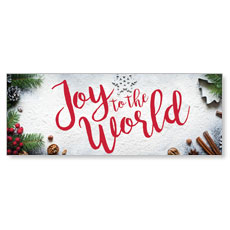 Joy To The World Snow Banner