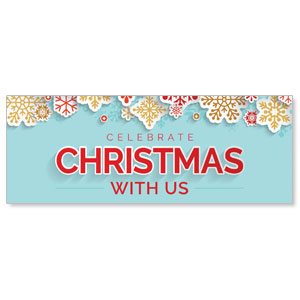 Paper Snowflakes - 3x8 Stock Outdoor Banners