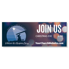 Unto Us Nativity Scene Banner