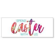 Easter Paint Splatter Banner