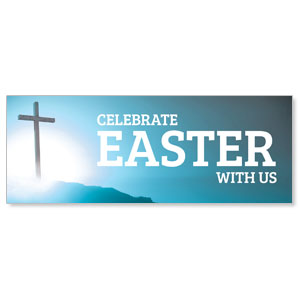 Easter Cross Blue Banners