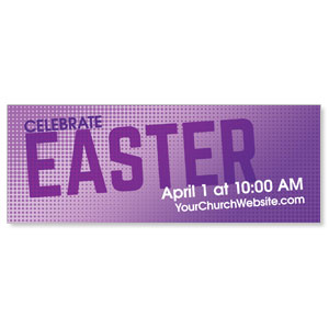 Easter Purple Dots Banners
