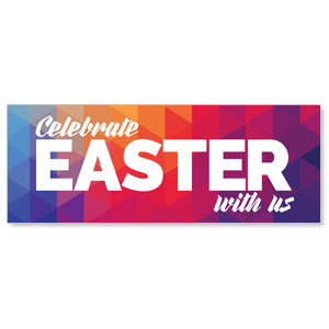 Geometric Bold Easter - 3x8 Stock Outdoor Banners