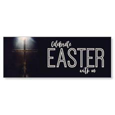 Light Glow Cross Easter Banner