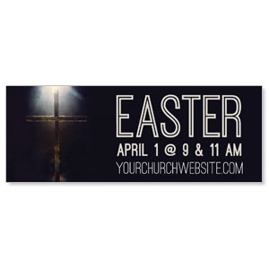 Light Glow Cross Easter Banners