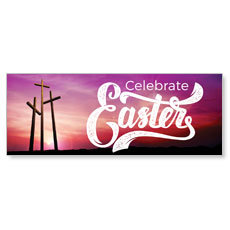Tall Crosses Easter Banner