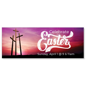 Tall Crosses Easter Banners