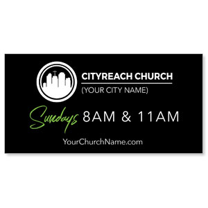 CityReach Black and Green Banners