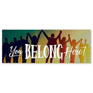 BTCS You Belong Here - 3x8 Stock Outdoor Banners