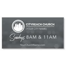 CityReach Blurred Gray Banner
