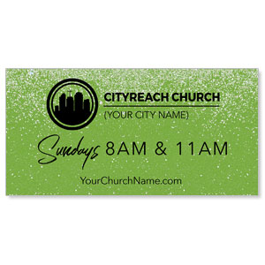CityReach Green Pebble Fade Banners