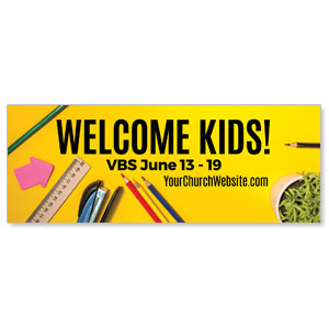 VBS Yellow Banners