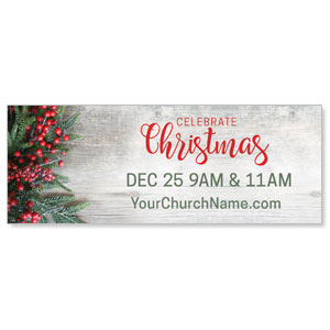 Christmas Branches and Berries Banners