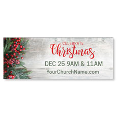 Christmas Branches and Berries Banner