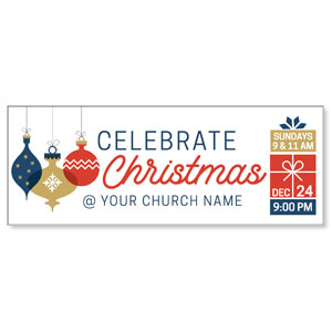 Stamped Christmas Banners