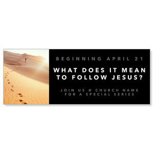 Following Jesus Sand Dunes - 3x8 ImpactBanners