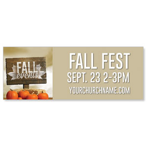 Fall Events Pumpkins - 3x8 ImpactBanners