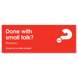 Alpha Small Talk Red ImpactBanners