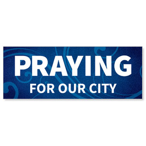 Flourish Praying For Our City Stock Outdoor Banners