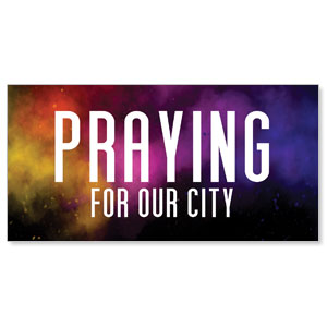 Dark Smoke Praying For Our City Stock Outdoor Banners