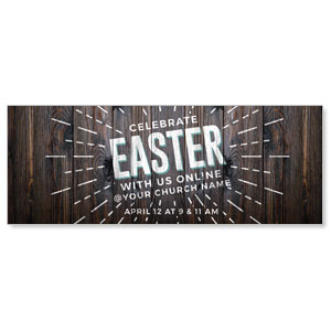 Dark Wood Easter At Online ImpactBanners