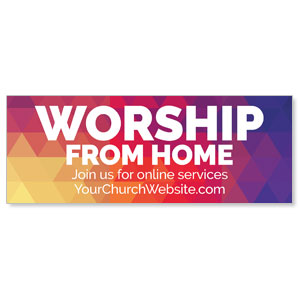 Geometric Bold Worship From Home ImpactBanners