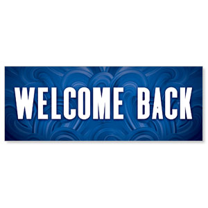 Blue Waves Welcome Back Stock Outdoor Banners
