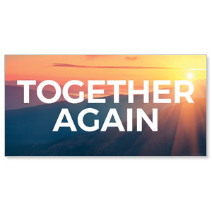 Sunrise Glow Together Again Stock Outdoor Banners
