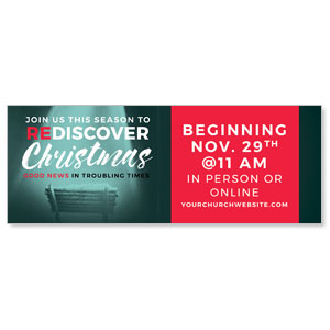 ReDiscover Christmas Advent Manger ImpactBanners