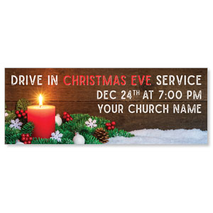 Drive In Christmas Candle ImpactBanners