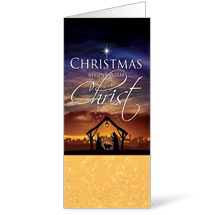 Christmas Begins Christ Bulletin